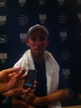 Sela was in a great mood talking to the press, cracking jokes often.